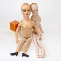 антикварные будуарные композитные куклы