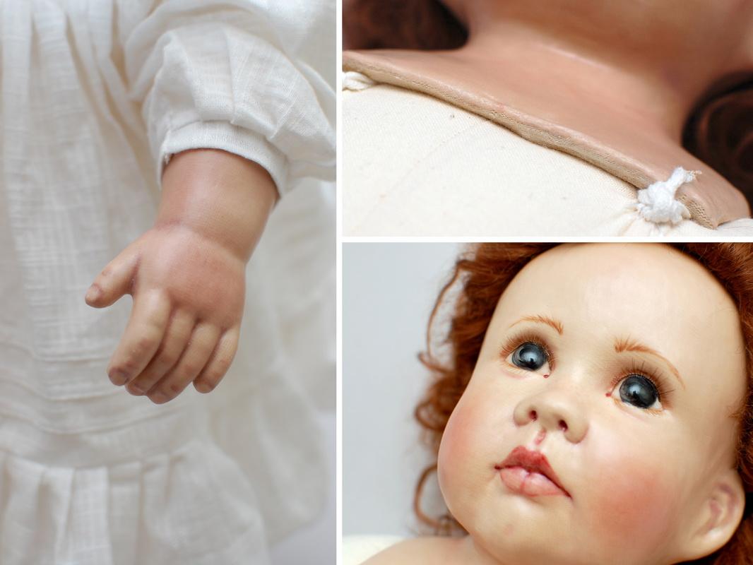 элементы куклы из ткани