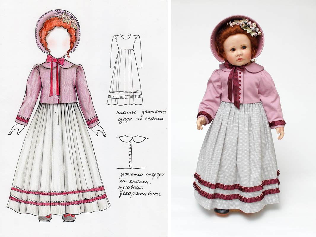 эскиз новой одежды для куклы