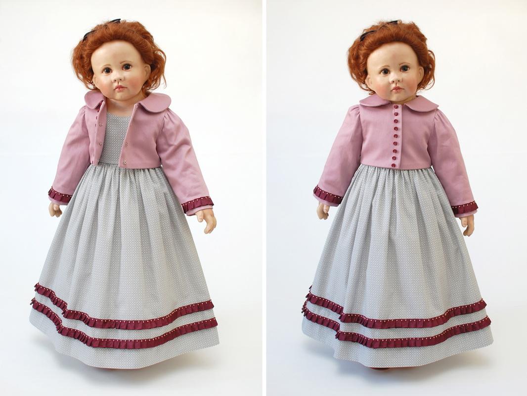 платье и жакет для куклы