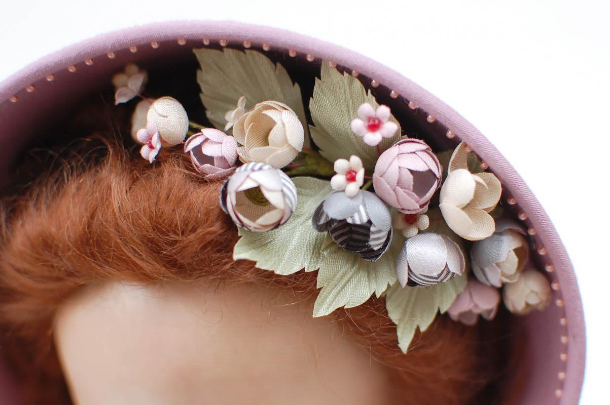 цветочки на шляпке крупно