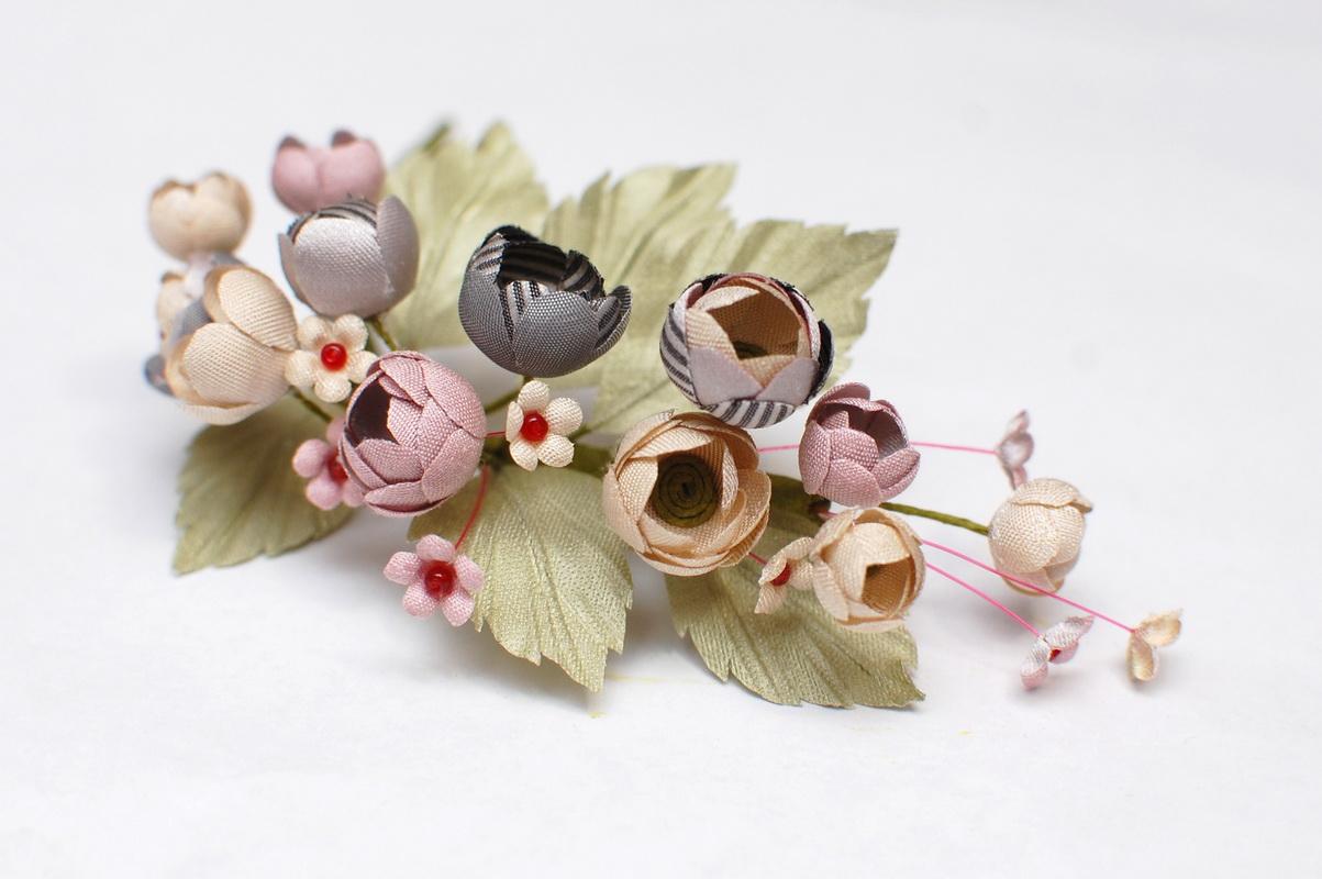 веточка цветов для шляпки