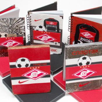 блокноты ручной работы в подарок болельщикам и фанатам футбольного клуба Спартак