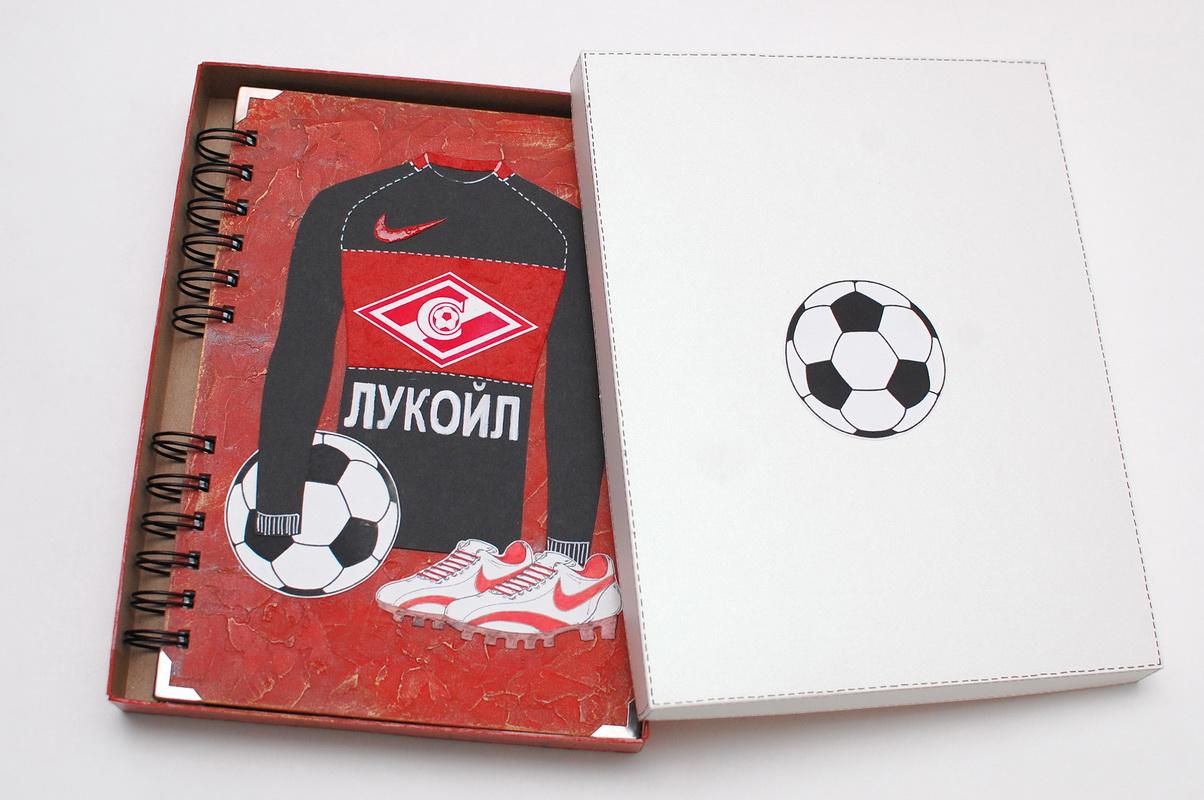подарок футболисту блокнот