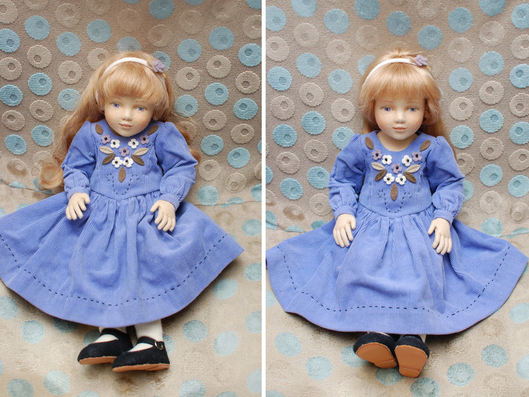 красивая кукла из фетра