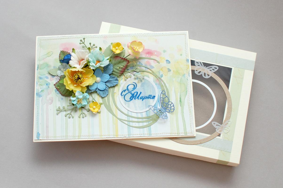 фото открытки с цветами на международный женский день