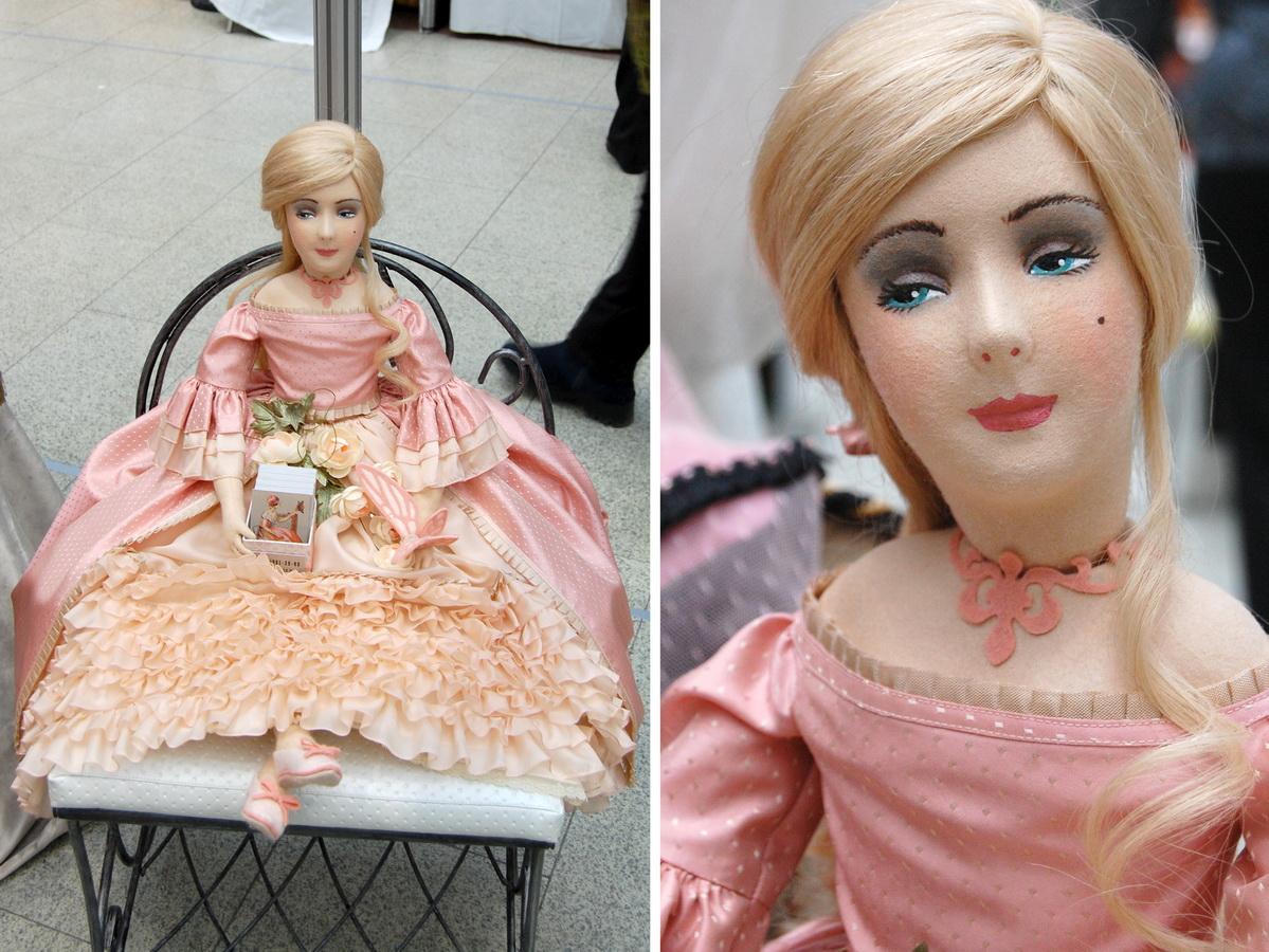 фотография фетровой куклы Ирины Углинской по мотивам кукол Lenci