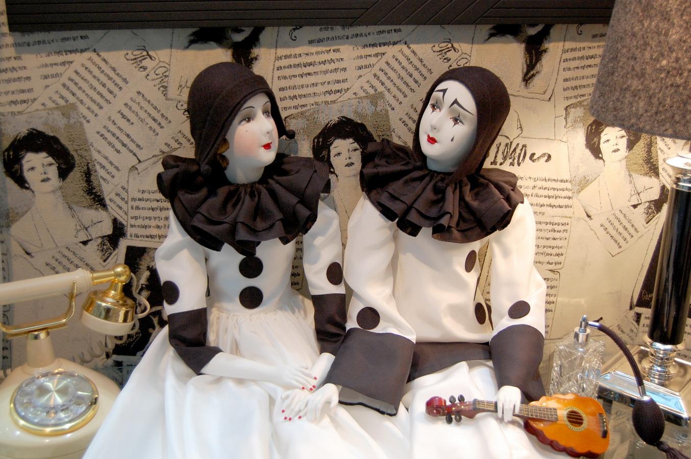 пьеро и пьеретта будуарные куклы Ирины Углинской