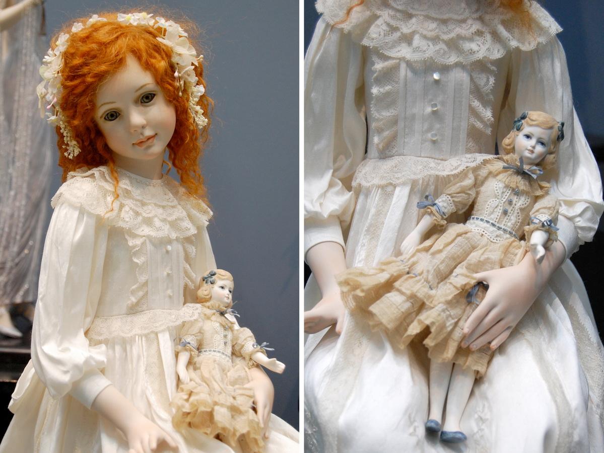авторская фарфоровая кукла ручной работы