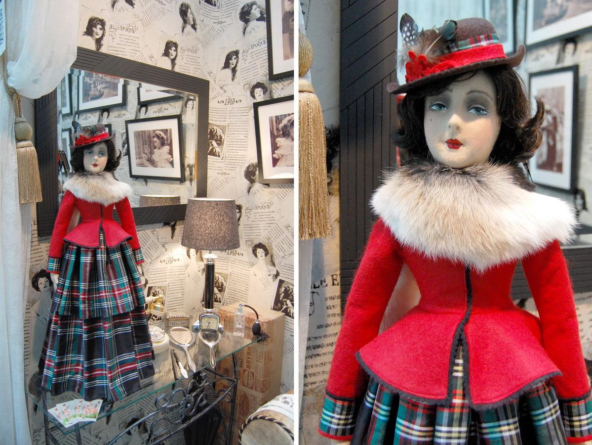 фетровая будуарная кукла