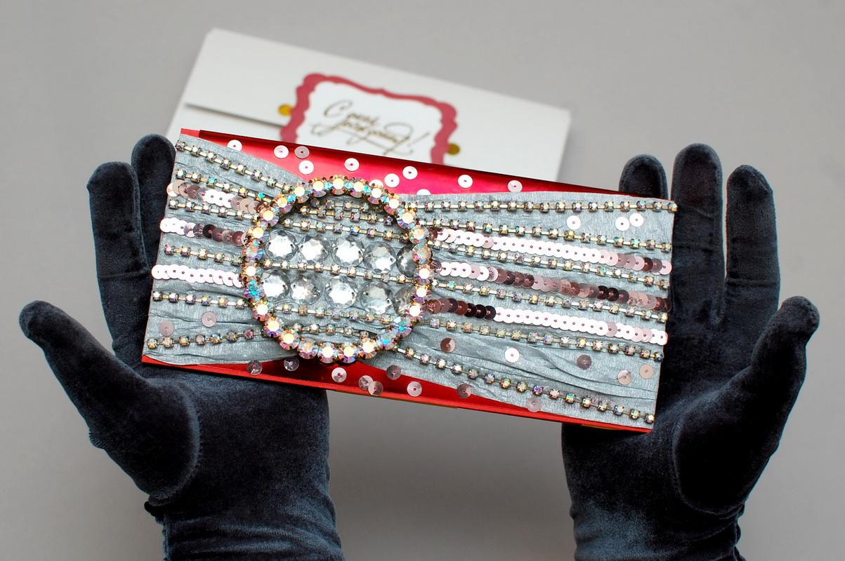 красивый клач конверт для денег ручной работы