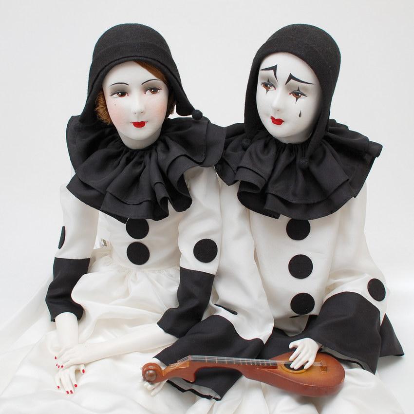 будуарные куклы Пьеро и Пьеретта