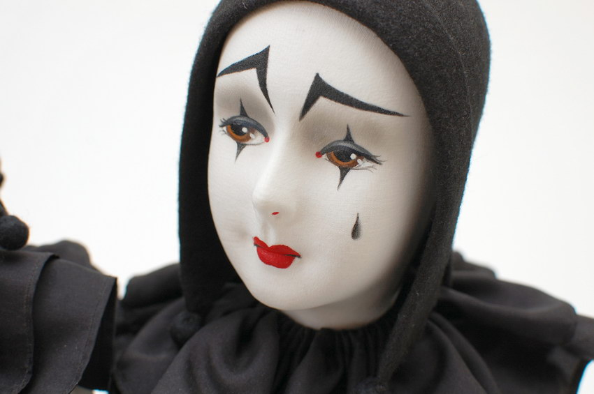 будуарная кукла Пьеро