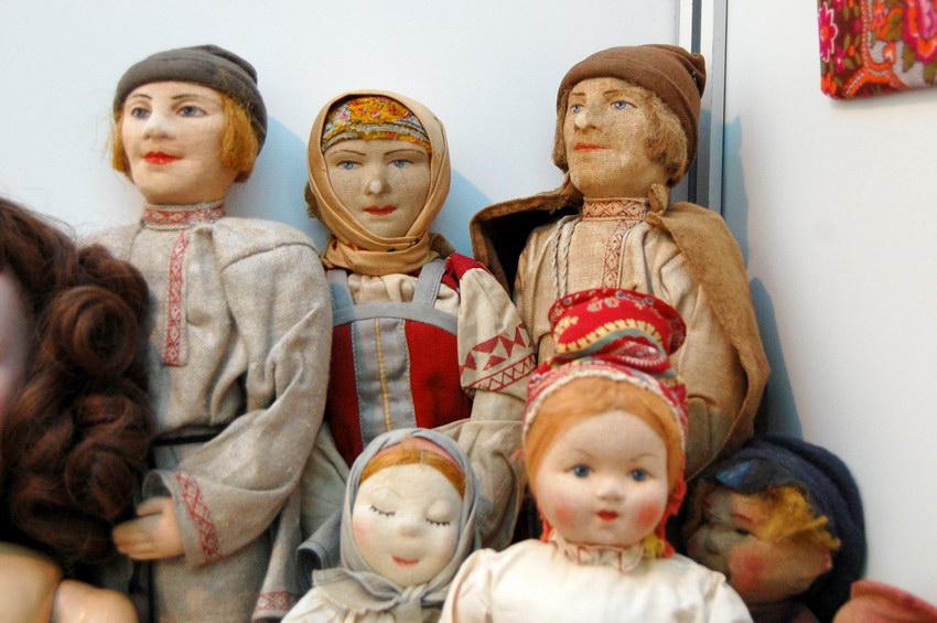текстильные куклы 30-х годов