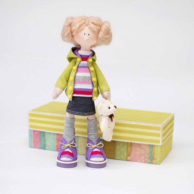 кукла из текстиля ручной работы