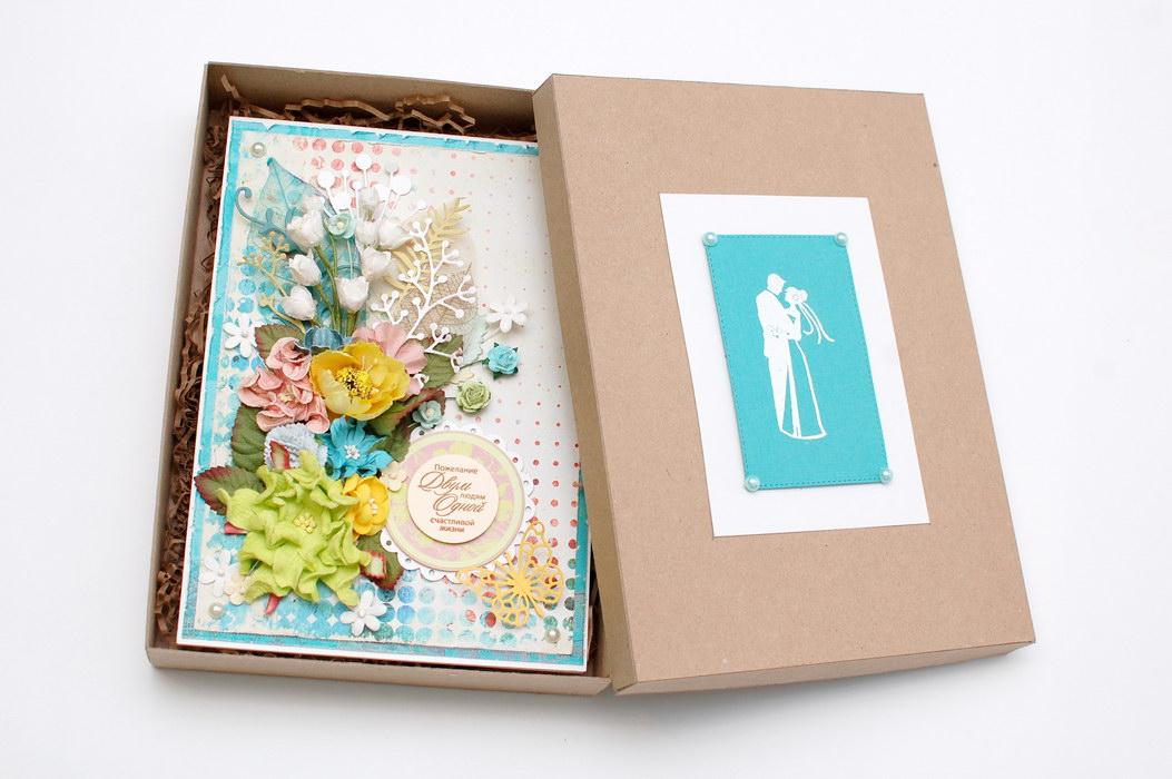 свадебная открытка в коробке