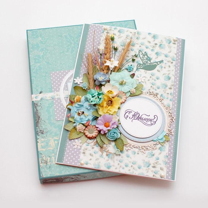 фото цветочной открытки на юбилей
