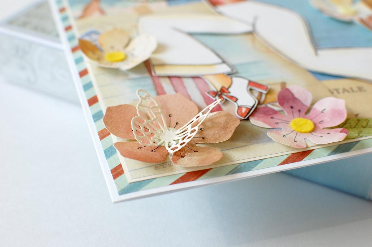 детали открытки цветы бабочки
