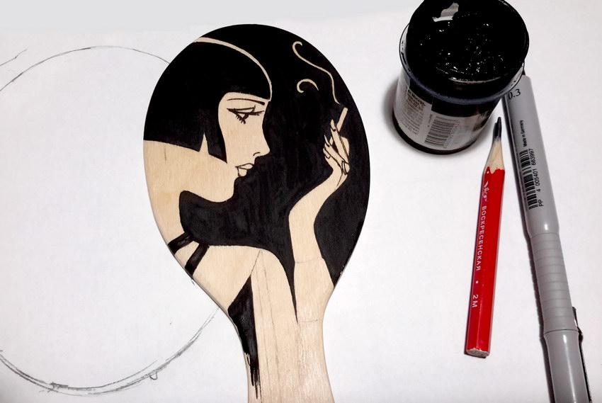 деревянная заготовка зеркала