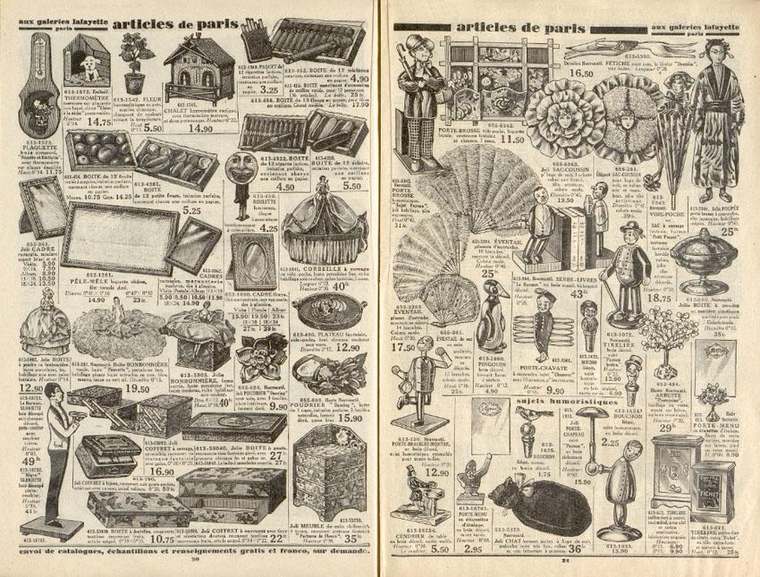 страница старого каталога игрушек