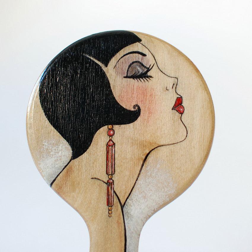 ручное дамское зеркало ручной работы